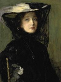 Sir John Lavery Mary in black