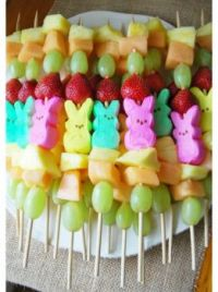 Peep Fruit Kabobs, link included