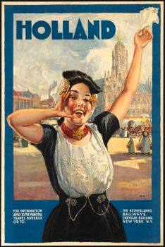 Vintage Tourism Poster Holland