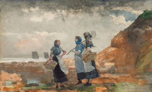 "Winslow Homer, ""Three Fisher Girls"", 1881"