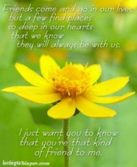 To my special friend so deep in my heart...