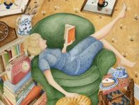 Snowed In, Confined To The House, Is She Bored? No Way José!  Art by Lucy A. Bird