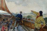 Christian Krohg (Norwegian, 1852–1925), Norwegian Leif Eriksson Discovers America