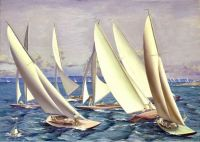 Before the Start, 1934, Gerald Sargent Foster