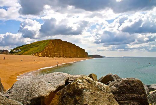 WEST BAY, DORSET - SETTING FOR TV's BROADCHURCH