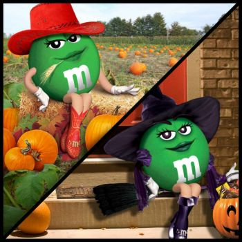 green mm halloween