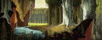 Sleeping Beauty concept art by Eyvind Earle