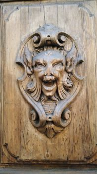 Detail on a door- Italy