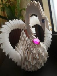 Origami swan by my daughter