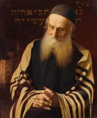 Alois Heinrich Priechenfried (Austrian, 1867–1953), Seated Rabbi