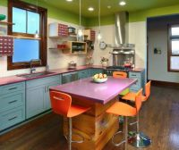 Color-filled kitchen