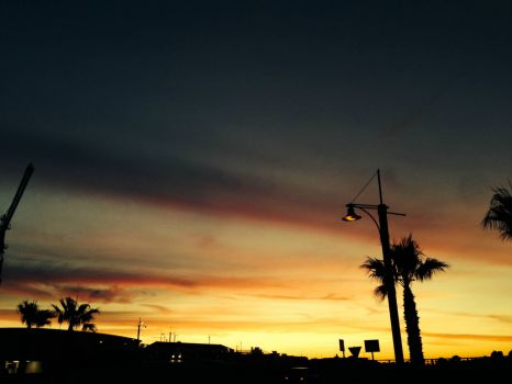 Sunset near Cape Town