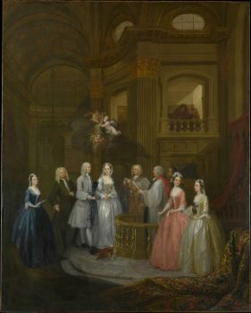 Marriage of Stephen Beckingham and Mary Cox 1729 Hogarth