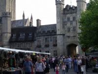 Market day Wells Somerset