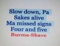 Burma Shave signs35