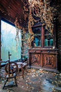Room in an old house