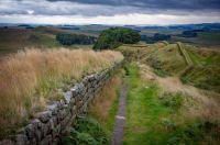 stone wall & trail