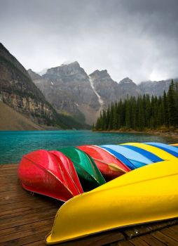 The Canoes of Moraine Lake, by S Richards Photography on flickr