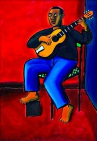 guitar player by Jacques de Loustal