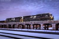Norfolk Southern SD80MAC's in Columbus, OH