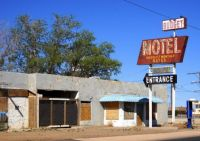 Arizona, Winslow, Route 66, Abandoned Budget Motel