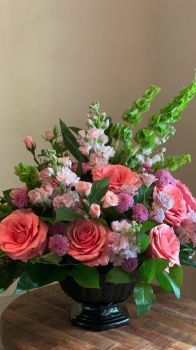 Happiness is.....Lovely Pink Rose Arrangement.