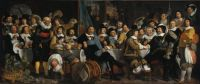 Amsterdam citizens celebrating the Peace of Münster, 1648 painting by Bartholomeus van der Helst.