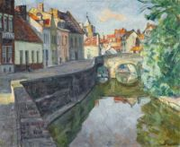 Arnold Borisovich Lakhovsky (Russia 1880-1937) Bruges Canal
