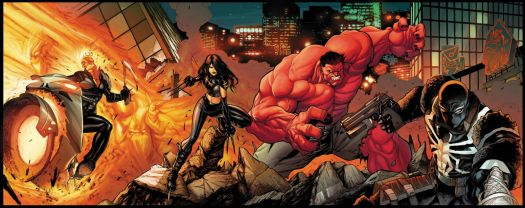 Venom and Red Hulk