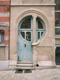 Brussels Art Nouveau door
