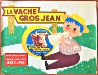 Themes Vintage ads - La Vache Gros Jean cheese