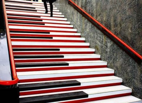 Piano Stairs in Milan, Italy