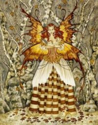 Fall fairy in the woods