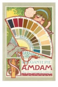 art nouveau paint chips ad
