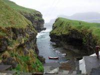 Gjógv port, Faroe Islands, Denmark