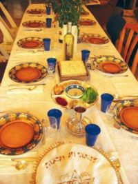 The Table Set for the Passover Seder
