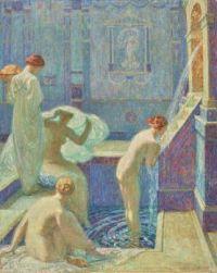 Octave Denis Victor Guillonnet (Français, 1872 - 1967) Le Bain,