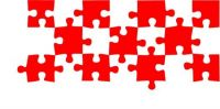 red and white jigsaw pieces