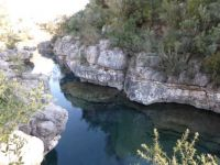 Spain. River in Enguera. Do you see the fish?
