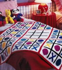 Fun Tic-Tac-Toe Kid's Crocheted Blanket