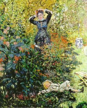 Claude Monet - Camille and Jean Monet in the Garden at Argenteuil, 1873 (May17P10)