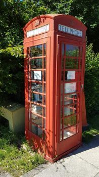 Telephone Box library, Antrobus, Cheshire UK