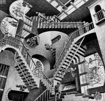 MC Escher - Relativity, 1953
