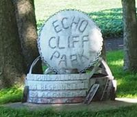 Sign For Echo Cliff Park