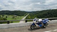 1988 GSXR750 on Natchez Trace Parkway