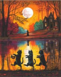 Black Cat Trick or Treaters