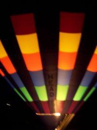 Nighttime baloon fest entrant