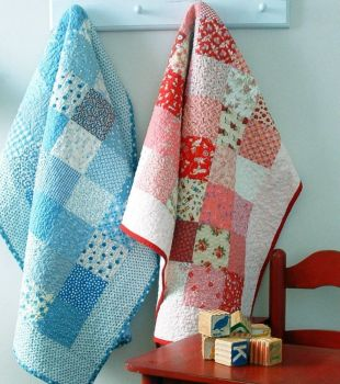 Baby Quilts - Blue and Red