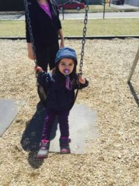 Granddaughter playing at the park