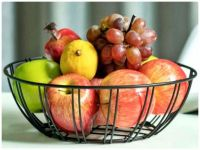 Mixed Fruit in a Black Wire Basket
